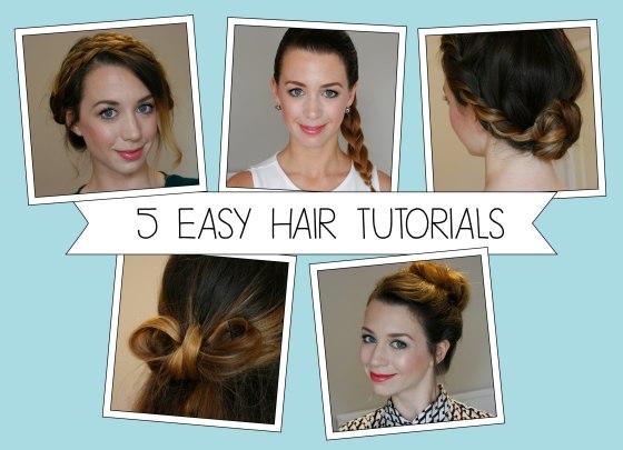 5 Easy YouTube Hair Tutorials