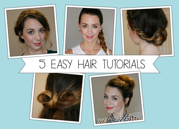 5 Easy YouTube Hair Tutorials