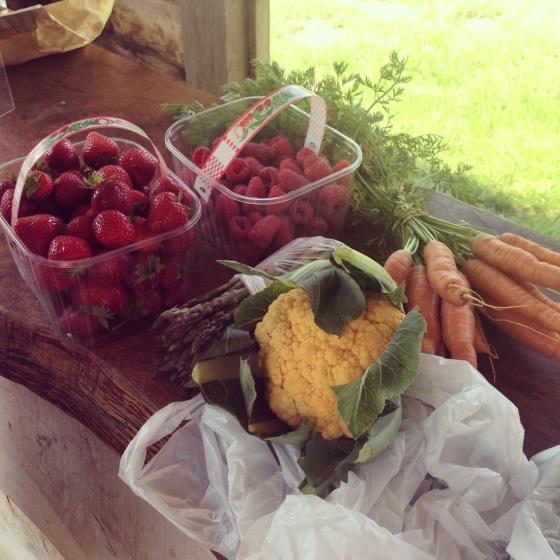 farm shop vegetables