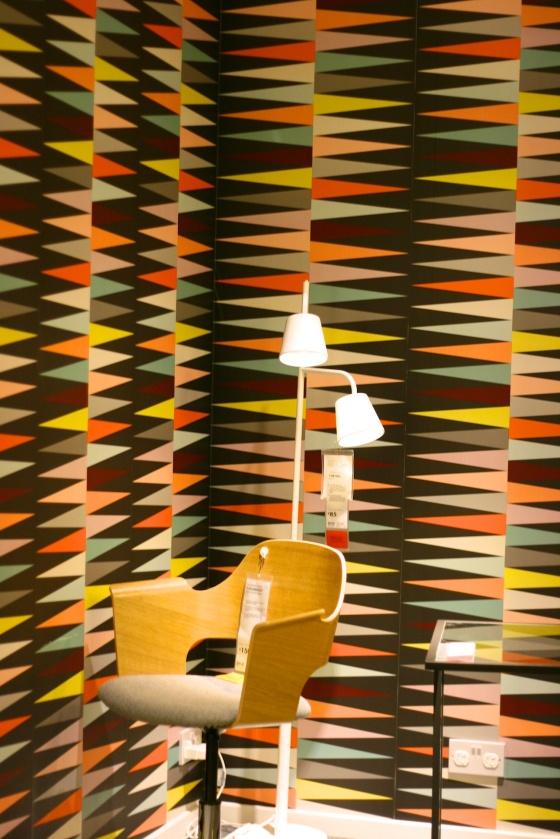 Ikea retro wallpaper
