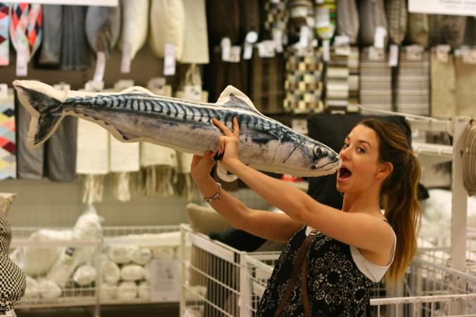 Ikea fish cushion