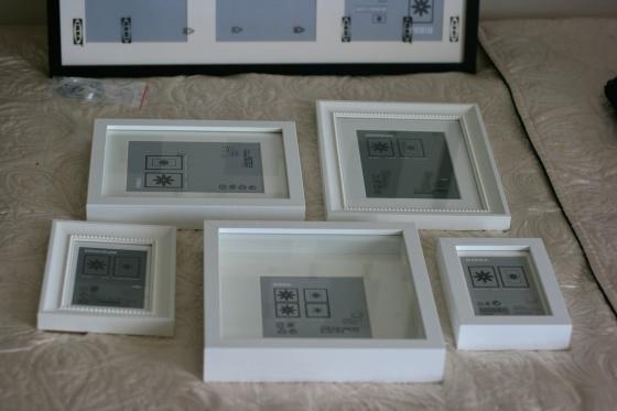 Ikea box frames