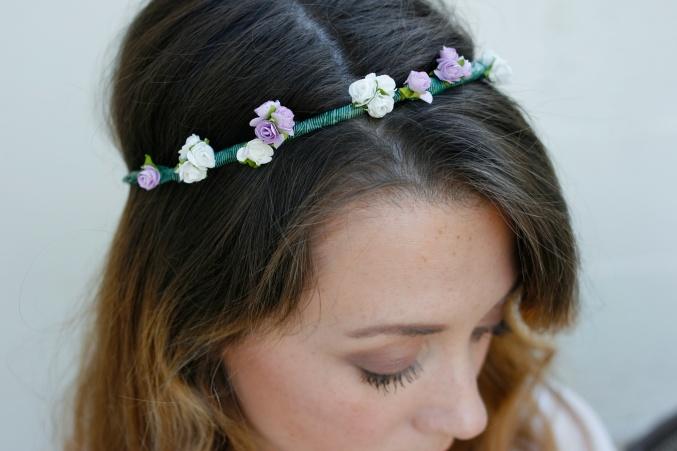 how to make  a flower headband