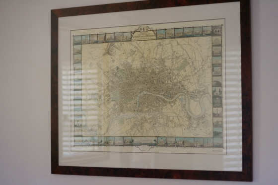 map framed home