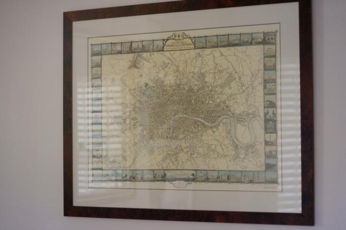 map framed home