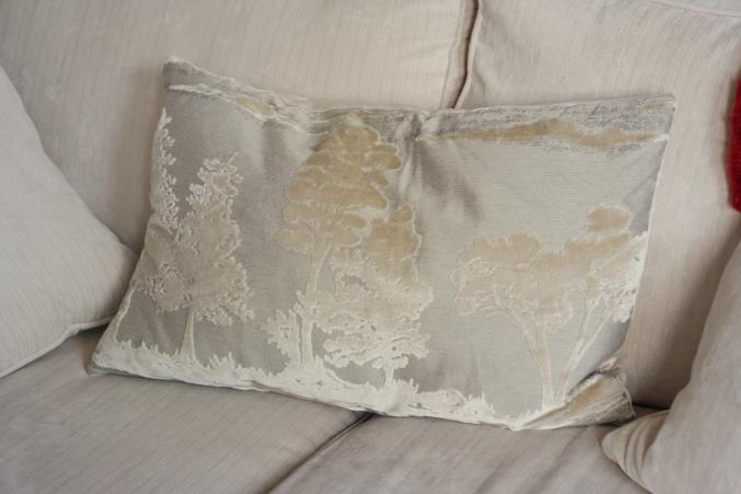 Next velvet cushion