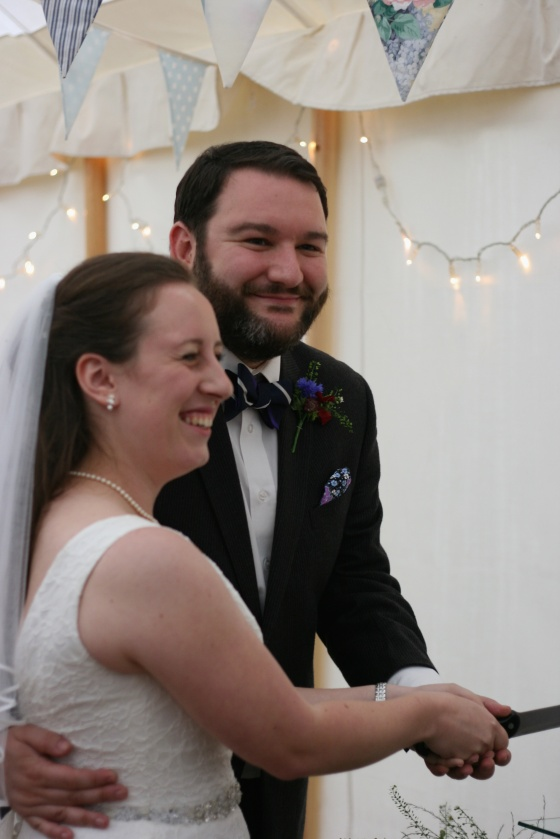 marquee fairylight wedding