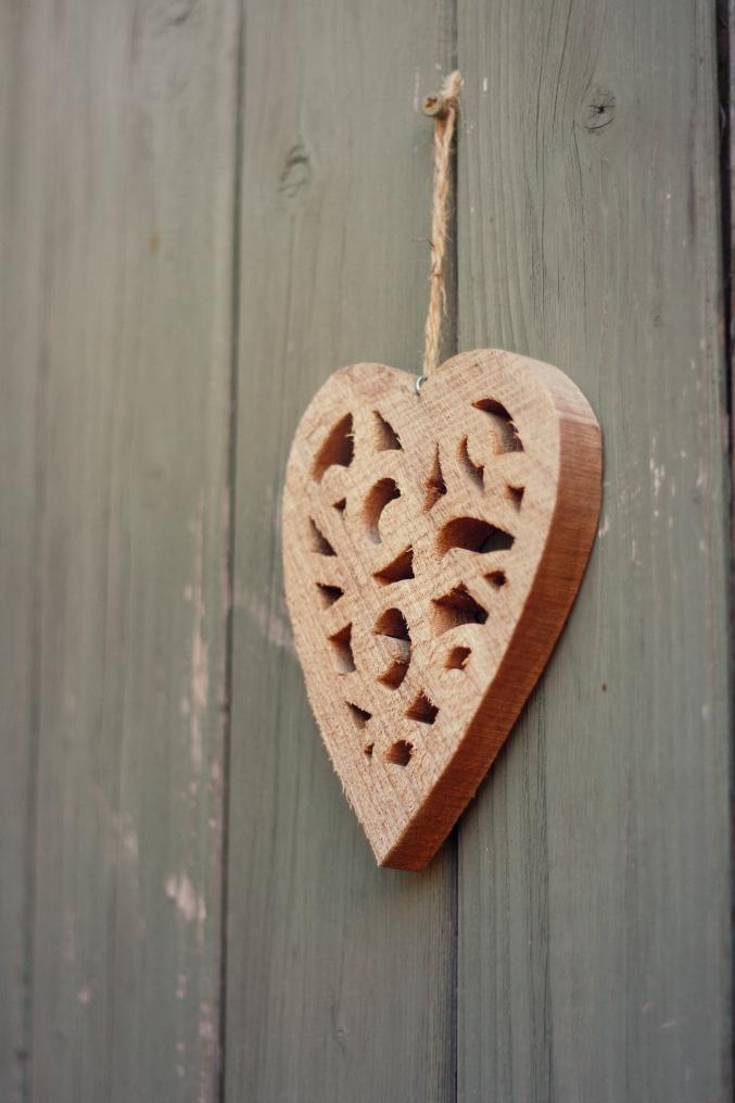 wood fence heart