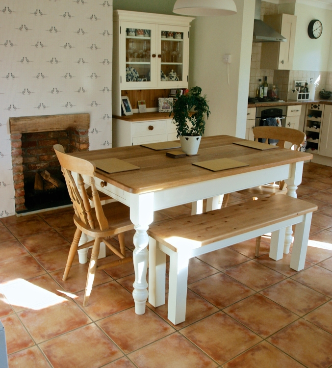 table with benches