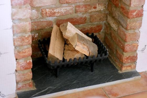 fireplace cast iron basket