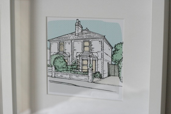 personalised house portrait letterfest not on the highstreet