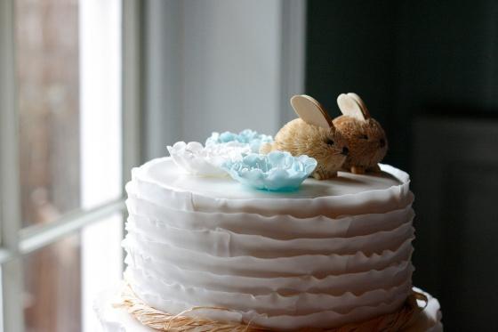 rabbit wedding cake