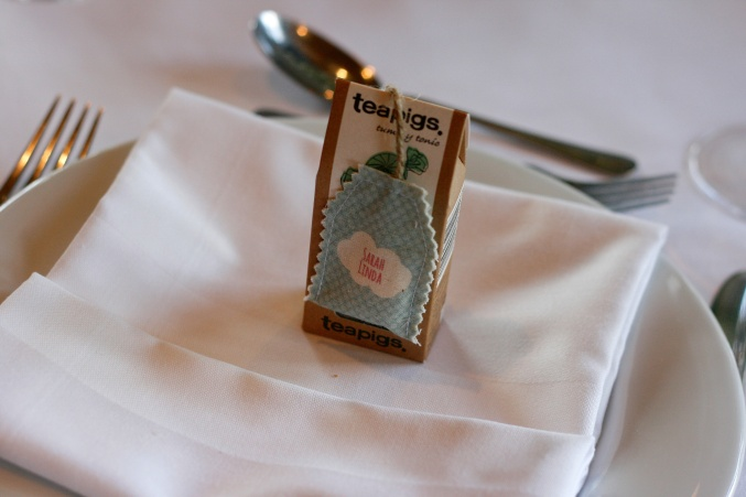 tea pigs wedding favour