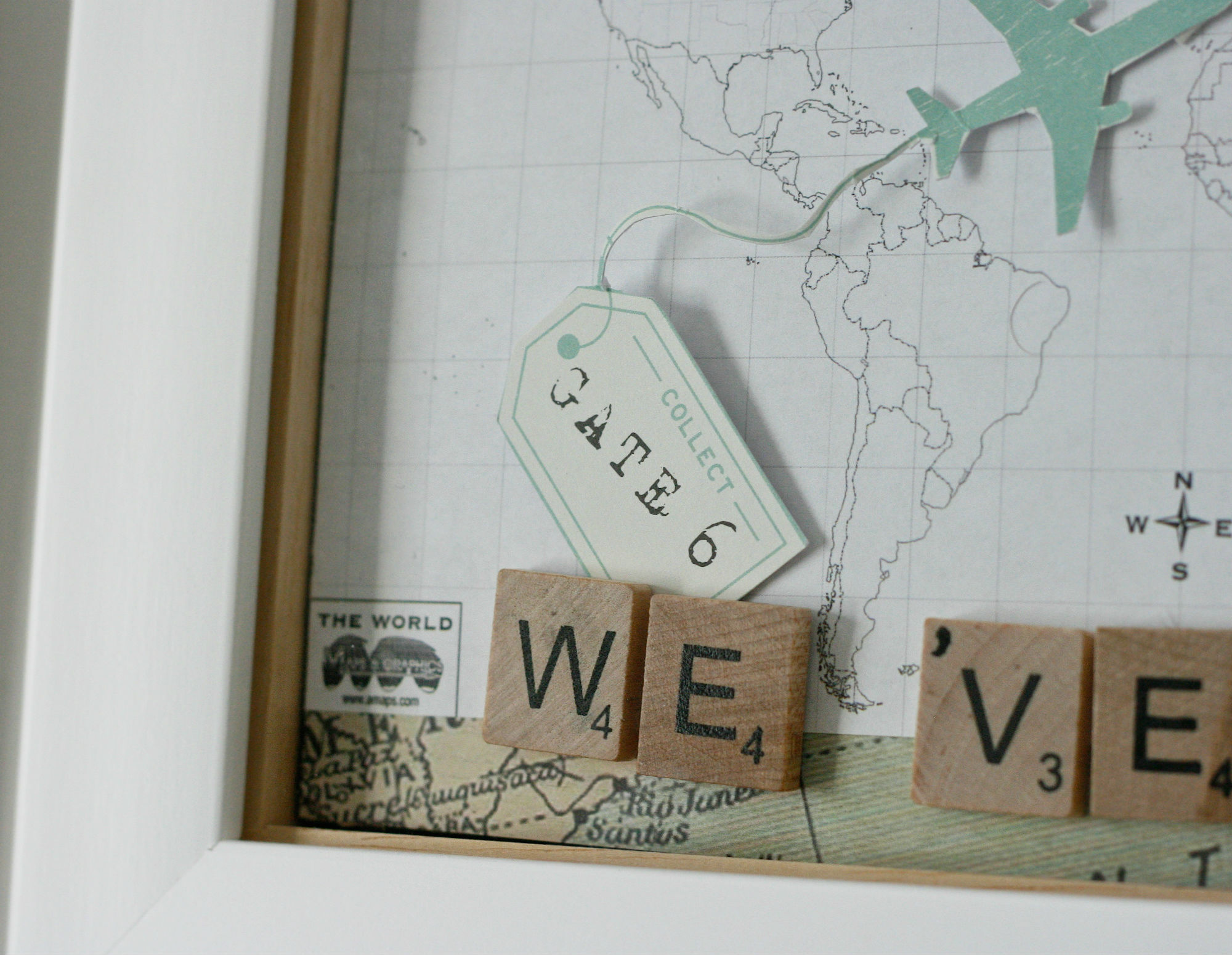 Diy framed pin board world map daisychains dreamers holiday map pins gumiabroncs Choice Image