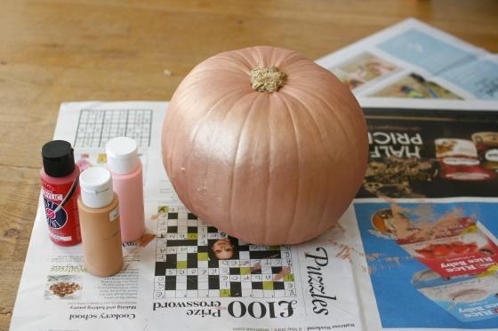 rose gold pumpkin