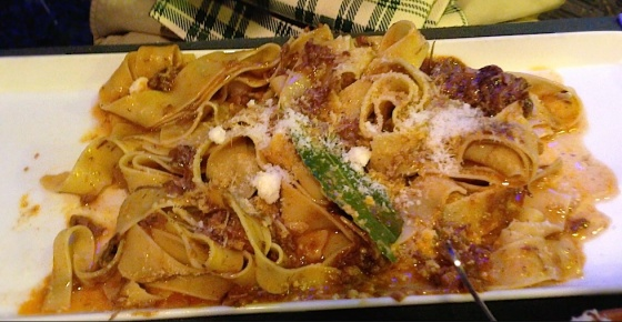 wild boar ragu Tuscany food