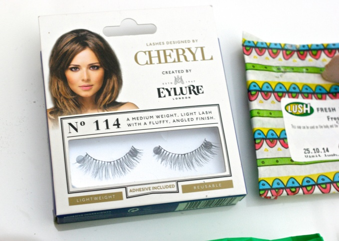 Cheryl Cole false eyelashes