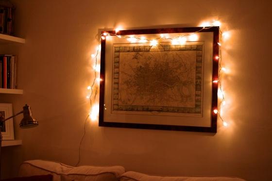 snowflake fairy lights map