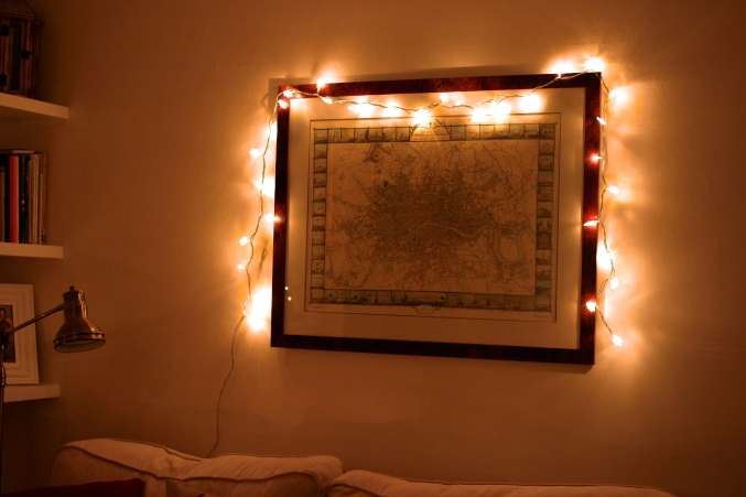 snowflake fairy lights map