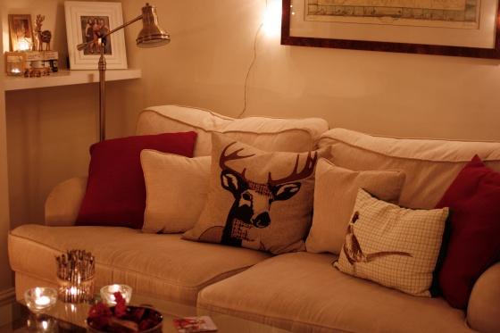 stag and pheasant cushions