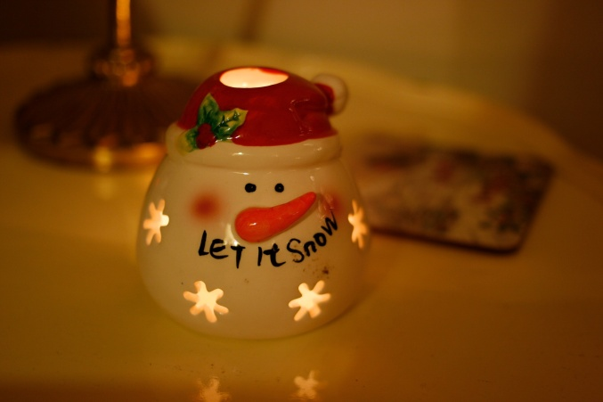 snowman tea light christmas