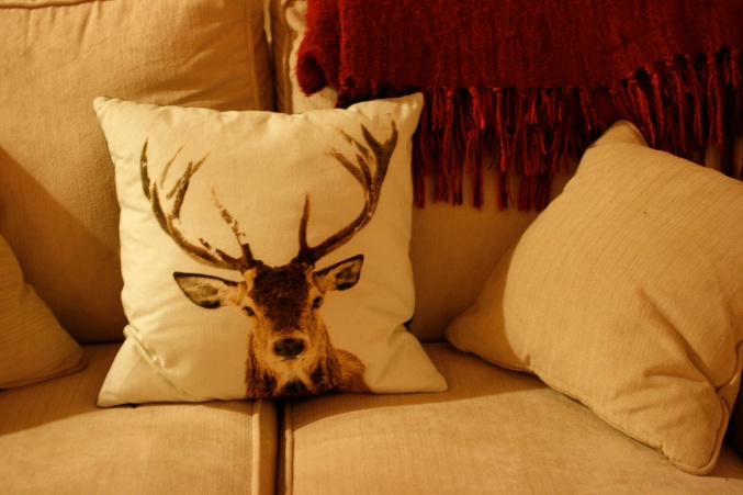 stag John Lewis cushion