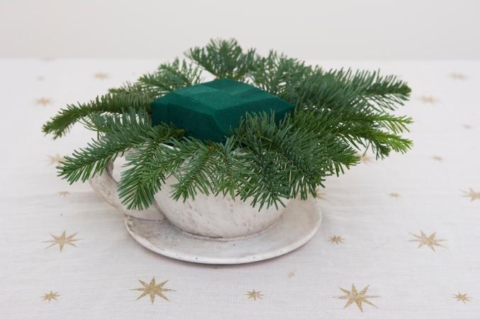 How to make a christmas posy