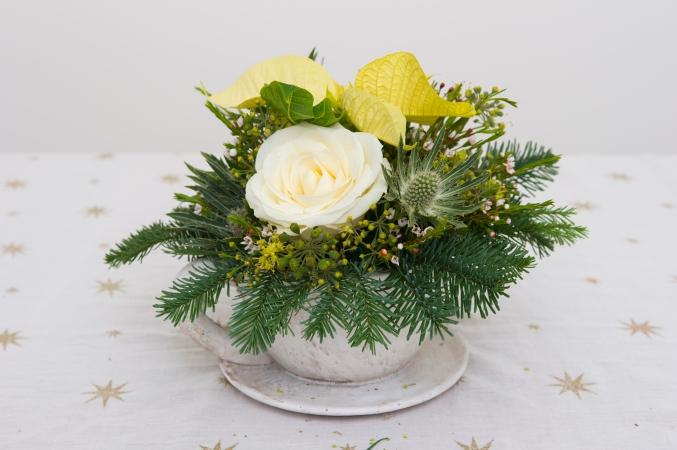 How to make a christmas posy