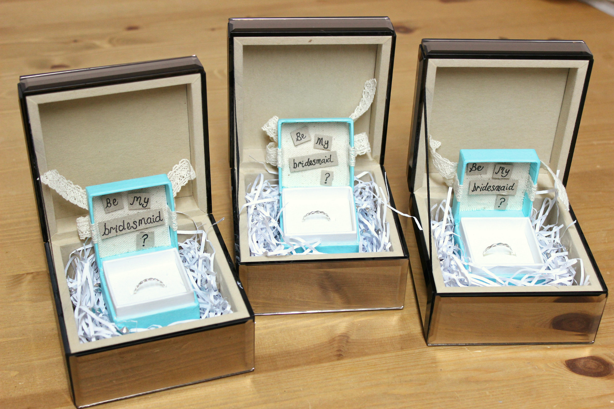 The Wedding Diary 3 Be My Bridesmaid Gift Boxes