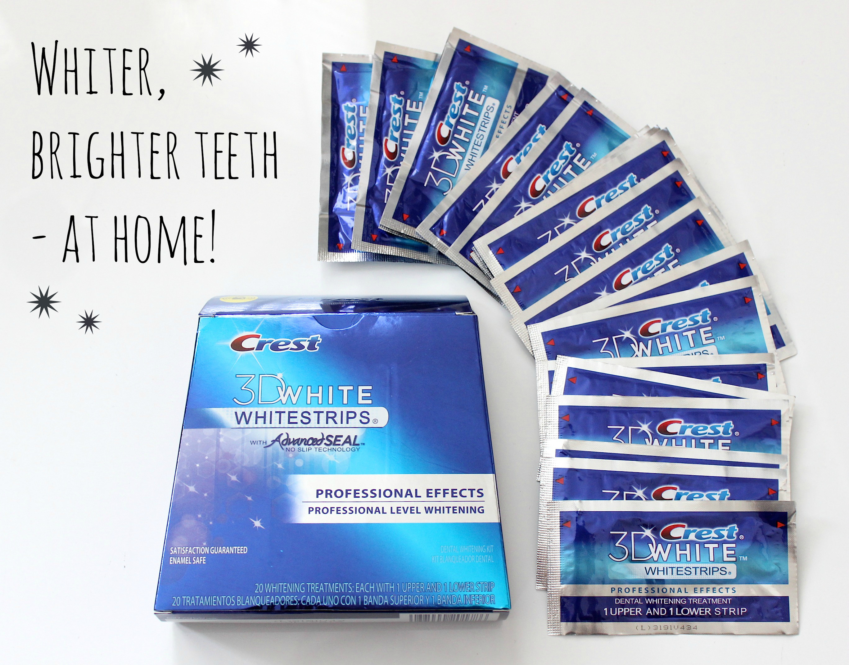 Whitening teeth the American way: Crest 3D Whitestrips Professional Effects review