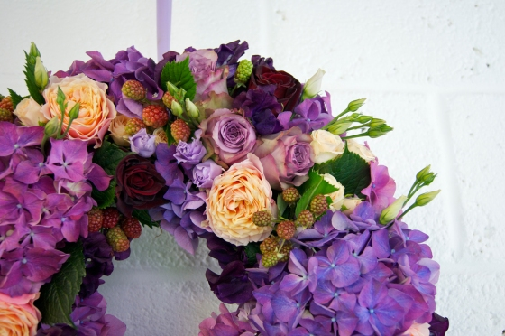 purple-and-coral-floral-wreath