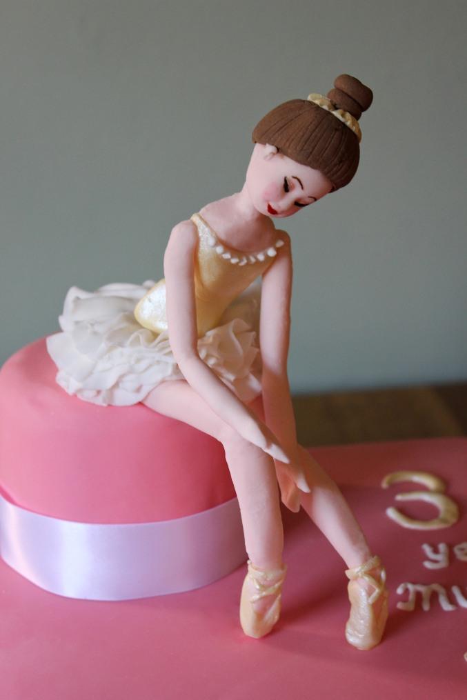 Ballerina cake modelled