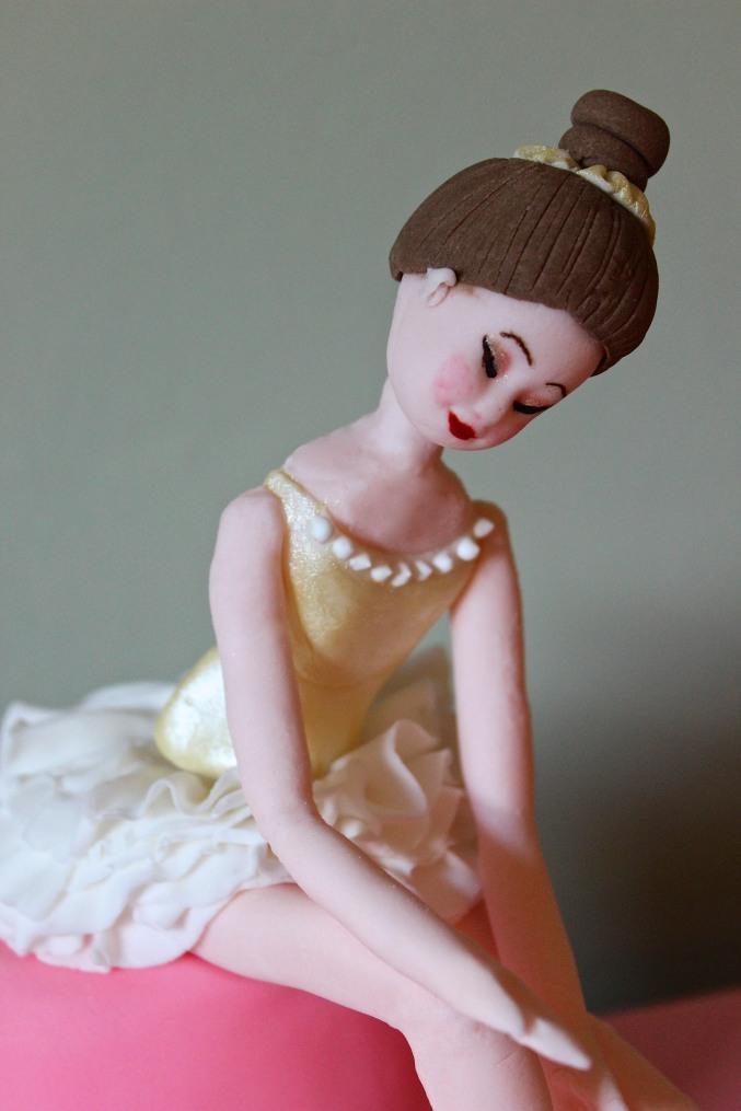 Ballerina cake face
