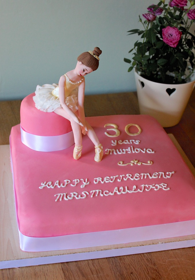 Ballet cake decorated